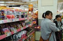 お菓子コーナーはハロウィン風に.jpg