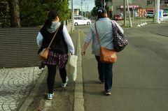 気温13℃でも、まだ夏な嫁さん(笑).jpg