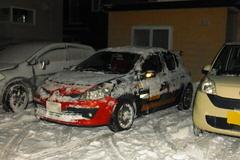 軽く除雪してから駐車.jpg